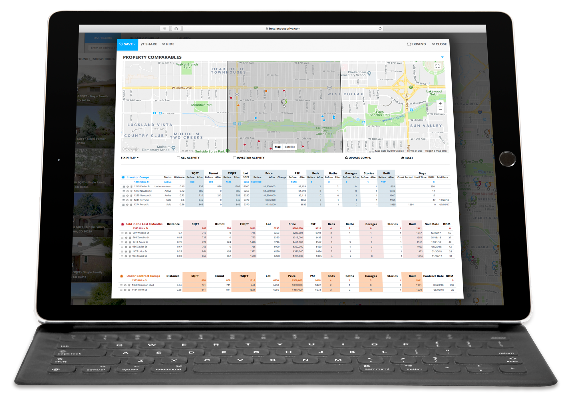 Real Estate Investment Software on Macbook