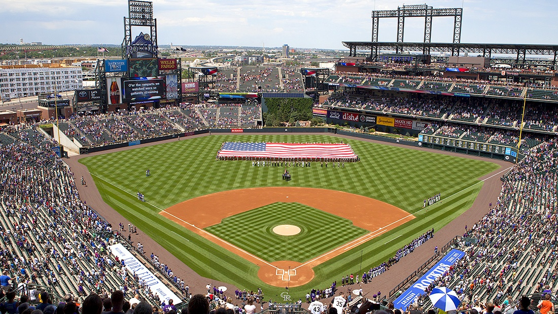 Rockies Baseball Stadium in Denver