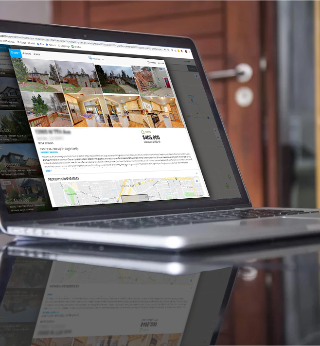 Real Estate Investment Software on Laptop